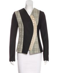 Proenza Schouler - Snakeskin And Leather-paneled Jacket - Lyst