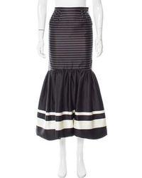 Katie Ermilio - Silk Striped Skirt - Lyst