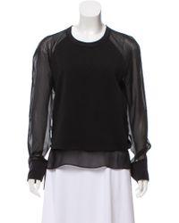 BLK DNM - Silk-trimmed Sweatshirt W/ Tags - Lyst
