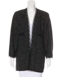 Chanel - Tulle-trimmed Open-front Coat - Lyst