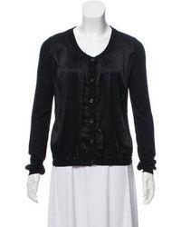Boutique Moschino - Silk & Cashmere-blend Cardigan - Lyst