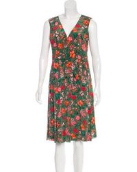 Marc Jacobs - Silk Floral Dress W/ Tags Olive - Lyst