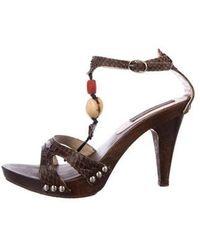 KENZO - Embellished Embossed Sandals - Lyst