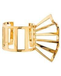 Arme De L'Amour - Winged Cuff Bracelet Gold - Lyst