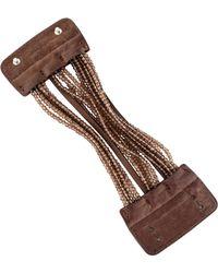 Brunello Cucinelli - Smoky Quartz Beaded & Leather Wrap Bracelet Silver - Lyst