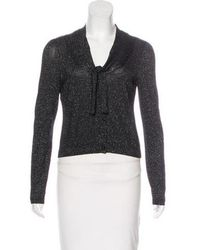 Boutique Moschino - Cropped Cardigan Black - Lyst