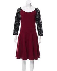 Alice By Temperley - Paneled Long Sleeve Dress - Lyst