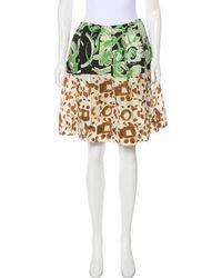 Emilio Pucci - Silk Pleated Skirt Multicolor - Lyst
