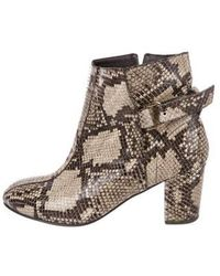Newbark - Embossed Leather Ankle Boots - Lyst
