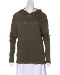 Organic By John Patrick - Lightweight Hooded Sweatshirt Olive - Lyst