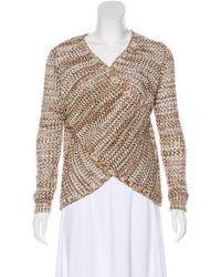10 Crosby Derek Lam - Crossover Knit Sweater Olive - Lyst