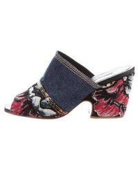 Rachel Comey - Embroidered Peep-toe Mules - Lyst