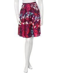 Peter Pilotto - Printed Emma Skirt W/ Tags Magenta - Lyst