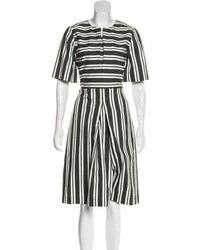 Trademark - Striped Midi Dress - Lyst