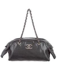 Chanel - Coco Rider Bowler Bag Black - Lyst