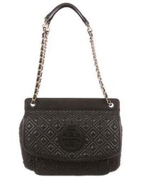 Tory Burch - Small Marion Shoulder Bag Navy - Lyst