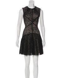 Lover - Sleeveless Mini Dress Black - Lyst