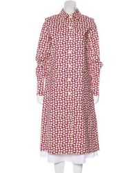 Louis Vuitton - Printed Long Coat Multicolor - Lyst