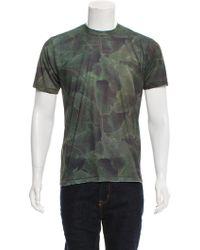 Baja East - Leaf Print T-shirt - Lyst