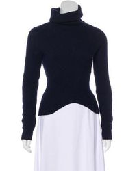 Theyskens' Theory - Ribbed Knit Turtleneck Sweater Navy - Lyst