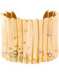 Alexis Bittar - Crystal Cuff Bracelet Gold - Lyst