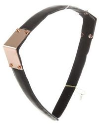 Colette Malouf - Leather Maneframe Headband Black - Lyst
