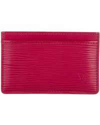 Louis Vuitton - Epi Cardholder Plum - Lyst