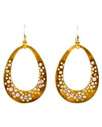 Alexis Bittar - Lucite & Crystal Drop Earrings Gold - Lyst