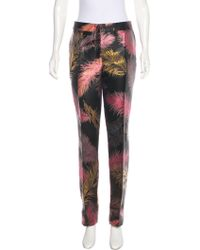 Emilio Pucci High-Rise Brocade Pants w/ Tags Free Shipping Reliable Buy Cheap Good Selling Geniue Stockist For Sale Fashionable Cheap Price Mfv496