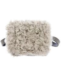 Brunello Cucinelli - Monili-trimmed Shearling Waist Bag Grey - Lyst