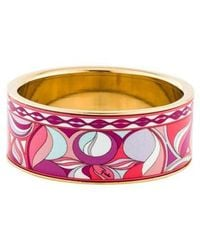 Emilio Pucci - Printed Ceramic Bangle Gold - Lyst