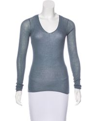 The Row - Long Sleeve Knit Top - Lyst