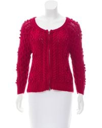 Étoile Isabel Marant - Cable Knit Long Sleeve Cardigan - Lyst