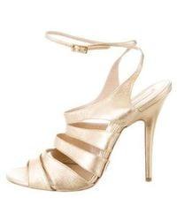 Michael Kors - Multistrap Sandals Gold - Lyst