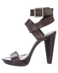 Vera Wang Lavender - Leather Multistrap Sandals - Lyst