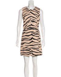 3.1 Phillip Lim - Animal Print Leather Sleeveless Mini Dress - Lyst