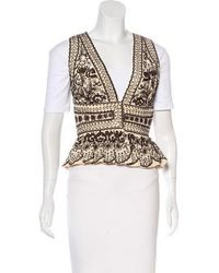 Naeem Khan - Silk Embroidered Vest - Lyst