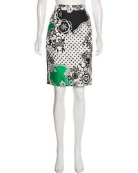 Tibi - Printed Pencil Skirt W/ Tags - Lyst