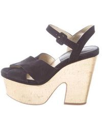 197faad47c1 Michael Kors - Suede Platform Sandals - Lyst