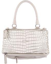 Givenchy - Embossed Medium Pandora Satchel White - Lyst