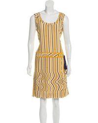 Tory Burch - Printed Silk Dress - Lyst