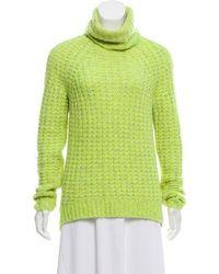 Tibi - Long Sleeve Turtleneck Sweater - Lyst