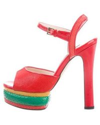 Chrissie Morris - Farrah Snakeskin Sandals W/ Tags - Lyst