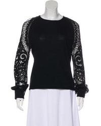 Naeem Khan - Cashmere Embroidered Sweater - Lyst
