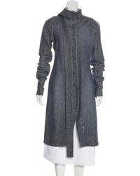 Vivienne Westwood Anglomania - Distressed Denim Coat Blue - Lyst