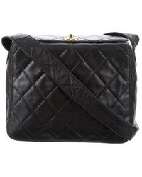 07fc6f8ae1dce5 Lyst - Chanel Vintage Patent Flap Bag Black in Metallic