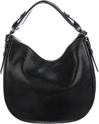Givenchy - Leather Obsedia Hobo Black - Lyst