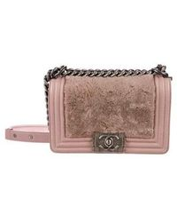 1941fb3ef9e8 Lyst - Chanel Mini Classic Square Flap Bag Pink in Metallic