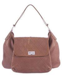 Chanel - Weekenders Pocket Hobo Brown - Lyst