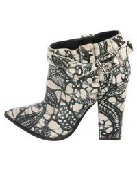 Thakoon - Leather Ankle Boots Grey - Lyst